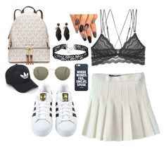 """""""riun outta here"""" by blunted-diva on Polyvore featuring Cosabella, adidas, MICHAEL Michael Kors and Ray-Ban"""