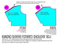 Kimono Sleeve Forward Shoulder Adjustment Method 2 | Flickr - Photo Sharing!
