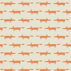 Scion Little Fox kettu tapetti lastenhuoneeseen Little Fox, Scion, Retro, Shades Of Green, Prints, Auburn, Wallpapers, Interiors, Nice