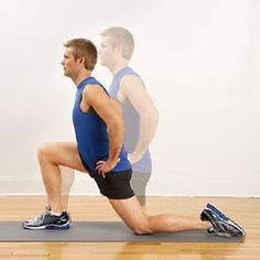 Run Faster! Power exercises to help you build strength for speed: 4. Kneeling Hip-Flexor Stretch