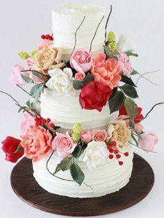 Sharon Wee Creations rustic garden cake-- LOVE