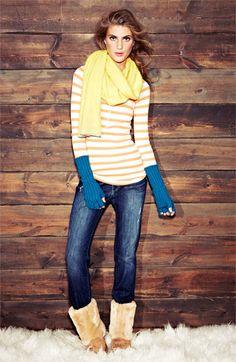 Cozy Getaway Essential: Thermals & Worn-in Jeans #Nordstrom