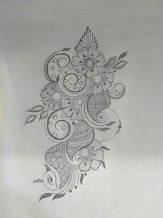 Super Ideas For Design Pattern Leaf Sketch Books Traditional Henna Designs, Basic Mehndi Designs, Arabic Henna Designs, Mehndi Designs For Beginners, Latest Mehndi Designs, Mehndi Designs For Hands, Peacock Mehndi Designs, Henna Tattoo Designs Arm, Finger Henna Designs