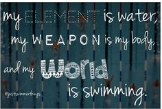 My world is swimming
