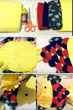Learn how to create a fish cushion from video tutorial. #diy #crafts #homedecor #interiordecoration