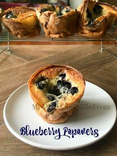 Breakfast Dishes, Breakfast Recipes, Breakfast Time, Breakfast Ideas, Brunch Ideas, Easy Popover Recipe, Pastry Recipes, Cooking Recipes, Yorkshire Pudding Recipes