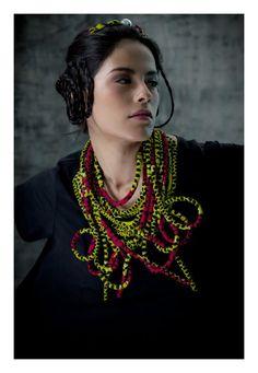 Fabric jewelry by NADIA DAFRI-FR