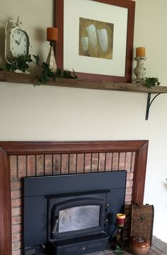 Changed Up The Mantle Again And Added Three Decorative Pieces Near Front Of Fireplace