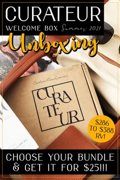Hey, guys! I'm back with an unboxing of theSummer 2021Curateur Welcome Box!(Psst! I only paid $25!) Curateur is a luxury subscription box that delivers the season's most coveted picks in high-end fashion and beauty. I'll show you the Welcome box bundle choices,which 3-piece Summer Welcome box I chose, and I've got a discount code to get one for just $25!!! Let's unbox it! #luxury #lifestyle #fashion #style #beauty #subscriptionbox #discountcode
