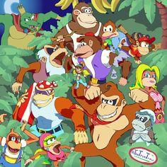 Drew some Donkey Kong fanart, thought you guys might like to see it! Donkey Kong Games, Donkey Kong 64, Donkey Kong Country, The Donkey, Super Nintendo, Nintendo Sega, Nintendo Games, Video Game Art, Video Games