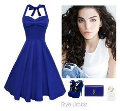 """Blue Dream"" by dalexa-terra ❤ liked on Polyvore featuring Yves Saint Laurent and Marc Jacobs"