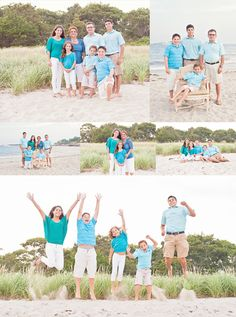 Group portrait session at the beach - photography