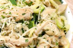 Grab Some Zucchini And Make This Healthier Chicken Alfredo Dish