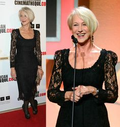 Long Illusion Sleeves Lace Celebrity Dresses 2016 Helen Mirren Square Neckline Tea Length American Cinematheque Award Red Carpet Evening Gow Discount Formal Dresses Dresses Formal From Bestdavid, $120.61| Dhgate.Com