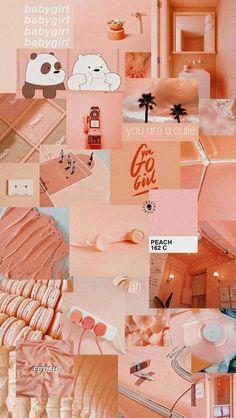 Ideas Aesthetic Wallpaper Pastel Peach For 2019 Peach Wallpaper, Pink Wallpaper Iphone, Iphone Background Wallpaper, Retro Wallpaper, Trendy Wallpaper, Disney Wallpaper, Cartoon Wallpaper, Girl Wallpaper, Wallpaper Samsung