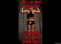 today I do, so tomorrow I can