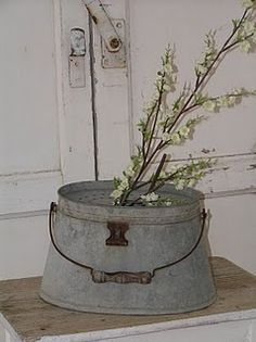 galvanized oval pail