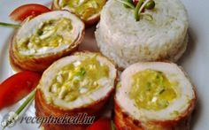 Csirkemell tekercs sajtos, főtt tojásos, mustáros töltelékkel