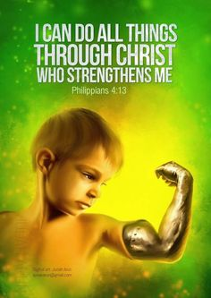 I can do all things through Christ who strengthens me ~ Philippians 4:13 - Design by Judah Arun | Tamil Christian Online