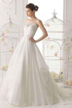 617f1cf0ac7a Aire Barcelona 2014 Bridal Collection — Lace Wedding Dresses