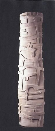 Paloma Torres (Mexican, b. 1960). Totem with Landscape, 2005. Clay. Museum purchase, Jay D. McEvoy Memorial Fund. 2005.60