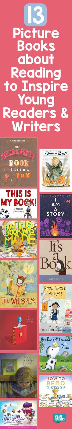 13 Picture Books about Reading to Inspire Young Readers and Writers - WeAreTeachers Library Skills, Library Books, Kid Books, Language Activities, Book Activities, Educational Activities, 3rd Grade Reading, Teaching Reading, Reading Lists