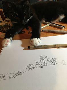 Rysowanie kurczaków to cięzka sprawa ;)