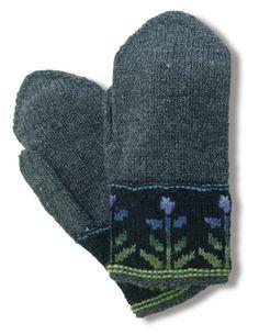 Kukkasadelapaset, tumma harmaa (91382)  #mittenS:-)