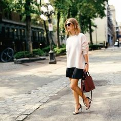 Street Style White Sweater