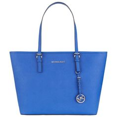 MICHAEL Michael Kors Large Jet Set Travel Top-Zip Tote ($385) ❤ liked on Polyvore featuring bags, handbags, tote bags, over the shoulder purse, travel purse, zippered tote, zip tote and travel tote bags