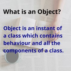 Object in object oriented programming language Java Tutorial, Object Oriented Programming, College Students, Behavior, Language, Concept, School, Behance, Student