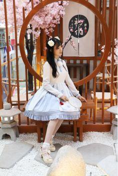 0388b68bd1a Original sweet Lolita Dress white color Chinese embroidered chiffon dress  Manluyunxiao
