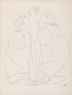 """Romaine Brook's haunting """"automatic"""" line drawings, some of the last works that she ever produced. Romaine Brooks, James Mcneill Whistler, Fauvism, Curved Lines, Female Images, New Artists, Line Drawing, Demons"""