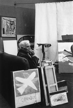 Denise COLOMB :: G. Braque, 1949 [Artists' portraits series]