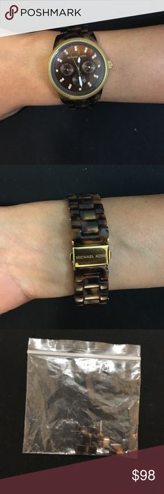 Tortoise Shell Micheal Kors Watch Great condition watch with attachment pieces. Will fit all wrist sizes KORS Michael Kors Accessories Watches