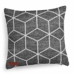 Fodera di cuscino in tessuto nera 40 x 40 cm CUBO