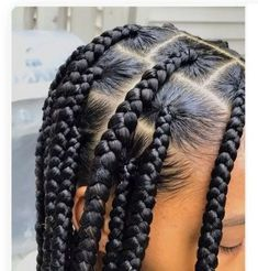3 Tips To Getting Realistic Jumbo Knotless Braids - Emily CottonTop Cute Box Braids Hairstyles, Braids Hairstyles Pictures, Black Girl Braided Hairstyles, Girls Natural Hairstyles, Black Girl Braids, Braided Hairstyles Tutorials, Girls Braids, Hair Pictures, Afro Hairstyles