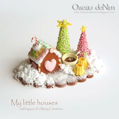 Oh so tiny gingerbread house!!!  Le Petit Monde d'Oiseau