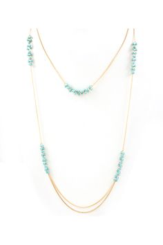 Turquoise Layered Raquel Necklace   Emma Stine Jewelry Necklaces