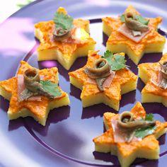 Etoiles de polenta à la poivronnade Consulter la recette des étoiles de polenta à la poivronnade