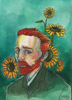 48 Ideas for art wallpaper van gogh Art Sketches, Art Drawings, Van Gogh Portraits, Vincent Willem Van Gogh, Van Gogh Art, Arte Sketchbook, Aesthetic Art, Art Inspo, Painting & Drawing
