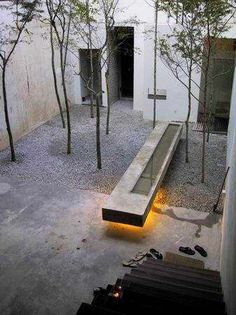 Courtyard of Kung Yu's Studio by Seksan Design.