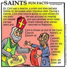 """St. Cyril of Jerusalem,Doctor of the Church """"Make your fold with the sheep; flee from the wolves: depart not from the Church,"""""""