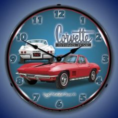 1967 Corvette Sting Ray Backlit Clock features an outer lens that is made from high quality optical lexan held in place with 3 removable rivets. It is scratch resistant and will not yellow over time.