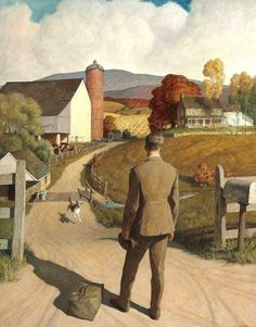 Newell Convers Wyeth (American artist and illustrator) 1882 - 1945 The Homecoming, 1945 Art And Illustration, Jamie Wyeth, Illustrator, Nc Wyeth, Oeuvre D'art, American Artists, Les Oeuvres, Painting & Drawing, Homecoming