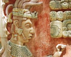 The king K'inich Janaab 'Pakal II (detail), in the museum of Maya archaeological site of Palenque (Mexico). - was the ruler of the state Mayan B'aakal whose headquarters was the town of Palenque. (603-683 AD)