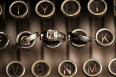 i love the idea of having rings on the typewriter. Especially because the J and K are right next to each other <3