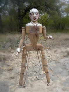 Bring me in so I wont be sad  Etsy listing at https://www.etsy.com/listing/210673052/santos-cage-doll-rustic-assemblage