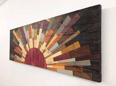 Arte de pared de madera la pared arte borde del