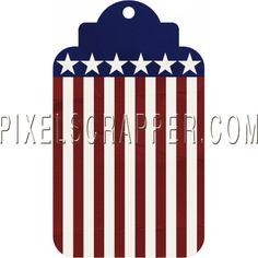USA Tag by Marisa Lerin | Pixel Scrapper digital scrapbooking*